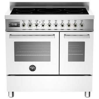 Bertazzoni Professional Series 90cm Electric Induction Twin Range Cooker White
