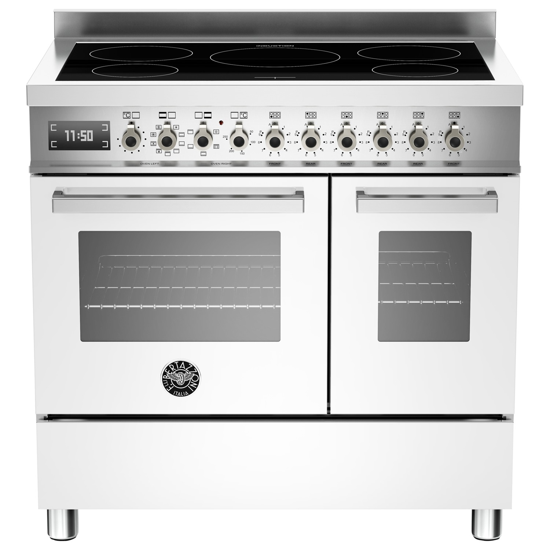 Bertazzoni Professional Series 90cm Electric Induction Twin Range Cooker White