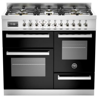 Bertazzoni Professional Series Dual Fuel Range Cooker Black