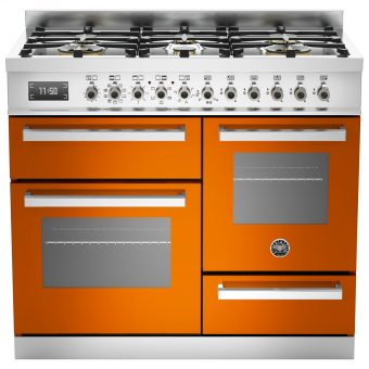 Bertazzoni Professional Series Dual Fuel Range Cooker Orange