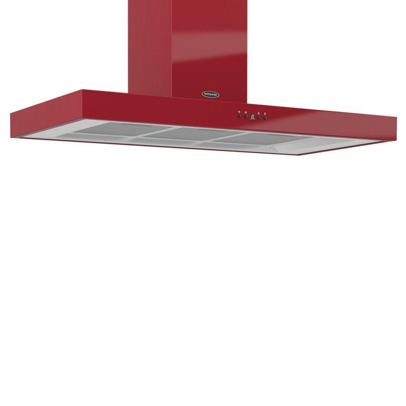 Britannia K7088A-10 Arioso Chimney Cooker Hood Gloss Red