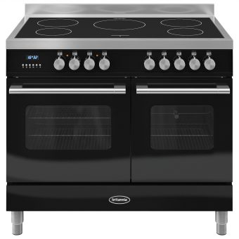 Britannia RC-10TI-DE Delphi Induction Hob Range Cooker Gloss Black