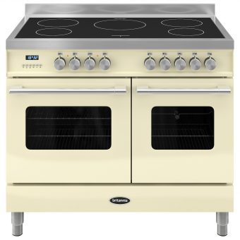 Britannia RC-10TI-DE Delphi Induction Hob Range Cooker Gloss Cream
