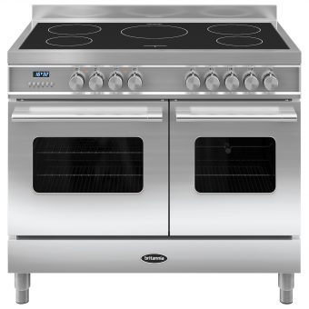 Britannia RC-10TI-DE Delphi Induction Hob Range Cooker Stainless Steel