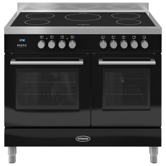 Britannia RC-10TI-QL Q-Line Induction Hob Range Cooker Gloss Black