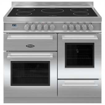 Britannia RC-10XGI-QL Q-Line Induction Hob Range Cooker Stainless Steel