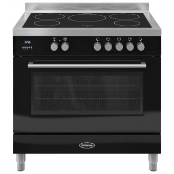 Britannia RC-9SI-QL Q-Line Induction Hob Range Cooker Gloss Black