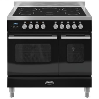Britannia RC-9TI-DE Delphi Induction Hob Range Cooker Gloss Black