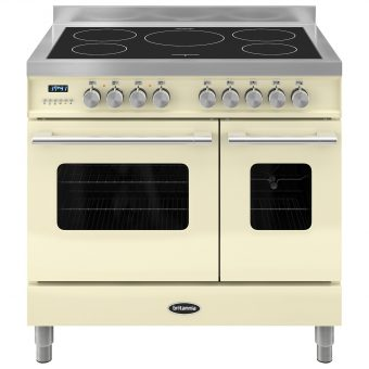 Britannia RC-9TI-DE Delphi Induction Hob Range Cooker Gloss Cream