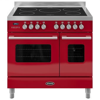Britannia RC-9TI-DE Delphi Induction Hob Range Cooker Gloss Red