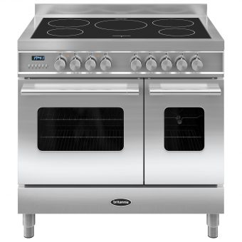 Britannia RC-9TI-DE Delphi Induction Hob Range Cooker Stainless Steel