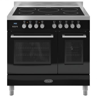 Britannia RC-9TI-QL Q-Line Induction Hob Range Cooker Gloss Black
