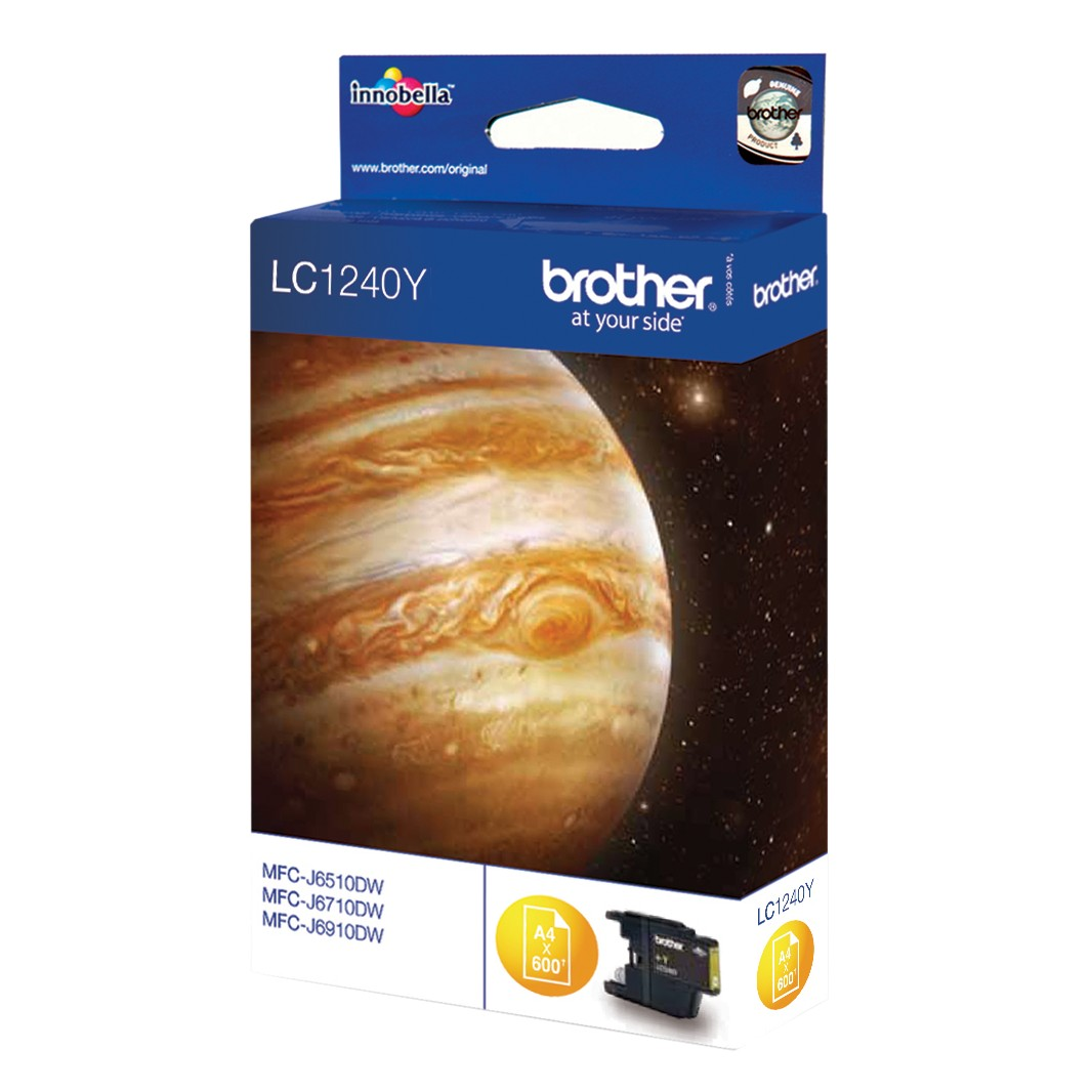 Brother LC1240 Colour Inkjet Cartridge Yellow