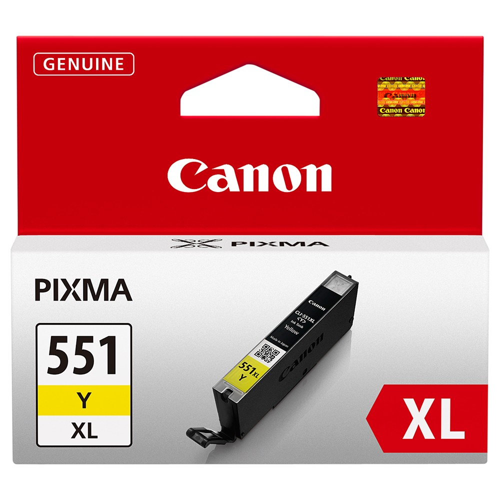 Canon CLI-551XL Colour Inkjet Cartridge Yellow