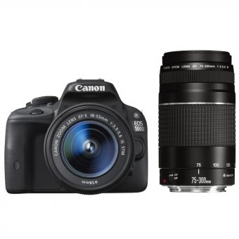 Canon EOS 100D Digital SLR Camera with EF-S 18-55mm f/3.5-5.6 IS STM & EF 75-300mm f/4-5.6 III Zoom Lens