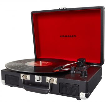 Crosley Cruiser Turntable With Three Speeds Black