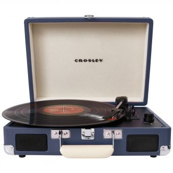 Crosley Cruiser Turntable With Three Speeds Blue