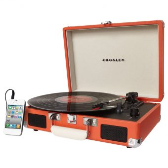 Crosley Cruiser Turntable With Three Speeds Orange