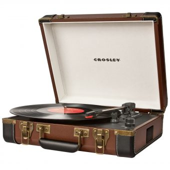 Crosley Executive USB Portable Turntable Brown