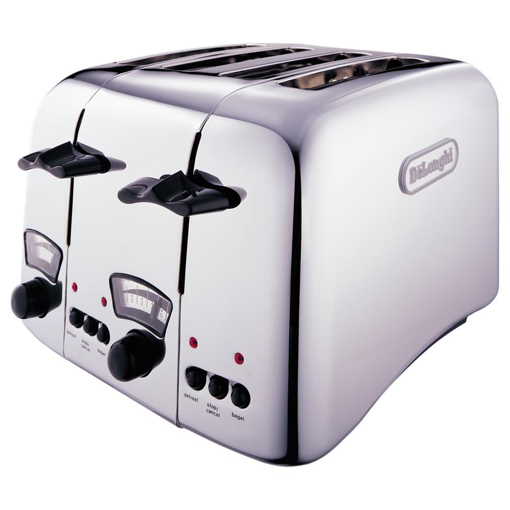 De'Longhi Argento CT04 4-Slice Toaster Chrome