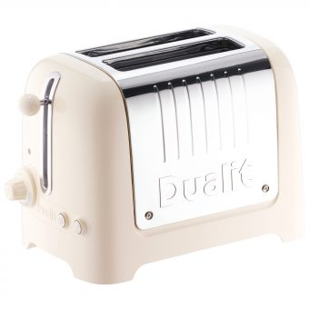 Dualit 2-Slice Toaster with Warming Rack Canvas White