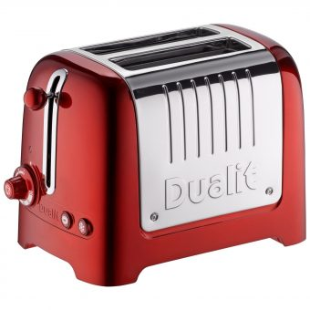 Dualit 2-Slice Toaster with Warming Rack Metallic Red