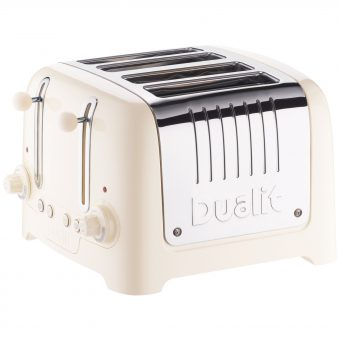 Dualit 4-Slice Toaster with Warming Rack Canvas White