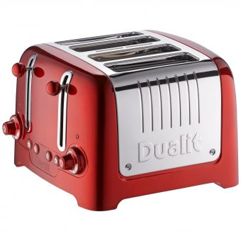 Dualit 4-Slice Toaster with Warming Rack Metallic Red