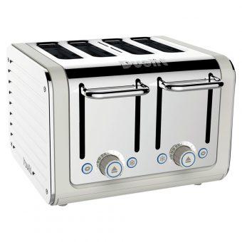 Dualit Architect 4-Slice Toaster Polished Steel / Canvas White