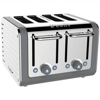 Dualit Architect 4-Slice Toaster Polished Steel / Grey