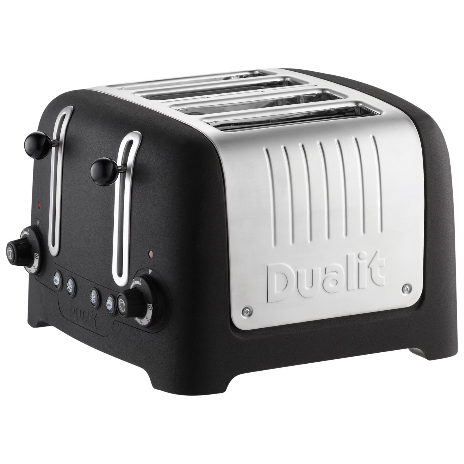 Dualit Lite 4-Slice Toaster with Warming Rack Basalt