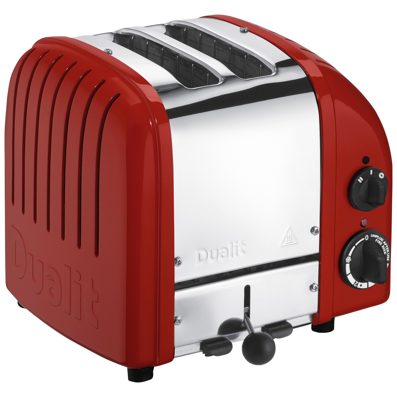 Dualit Made to Order Classic 2-Slice Toaster Stainless Steel/Brown Red Gloss