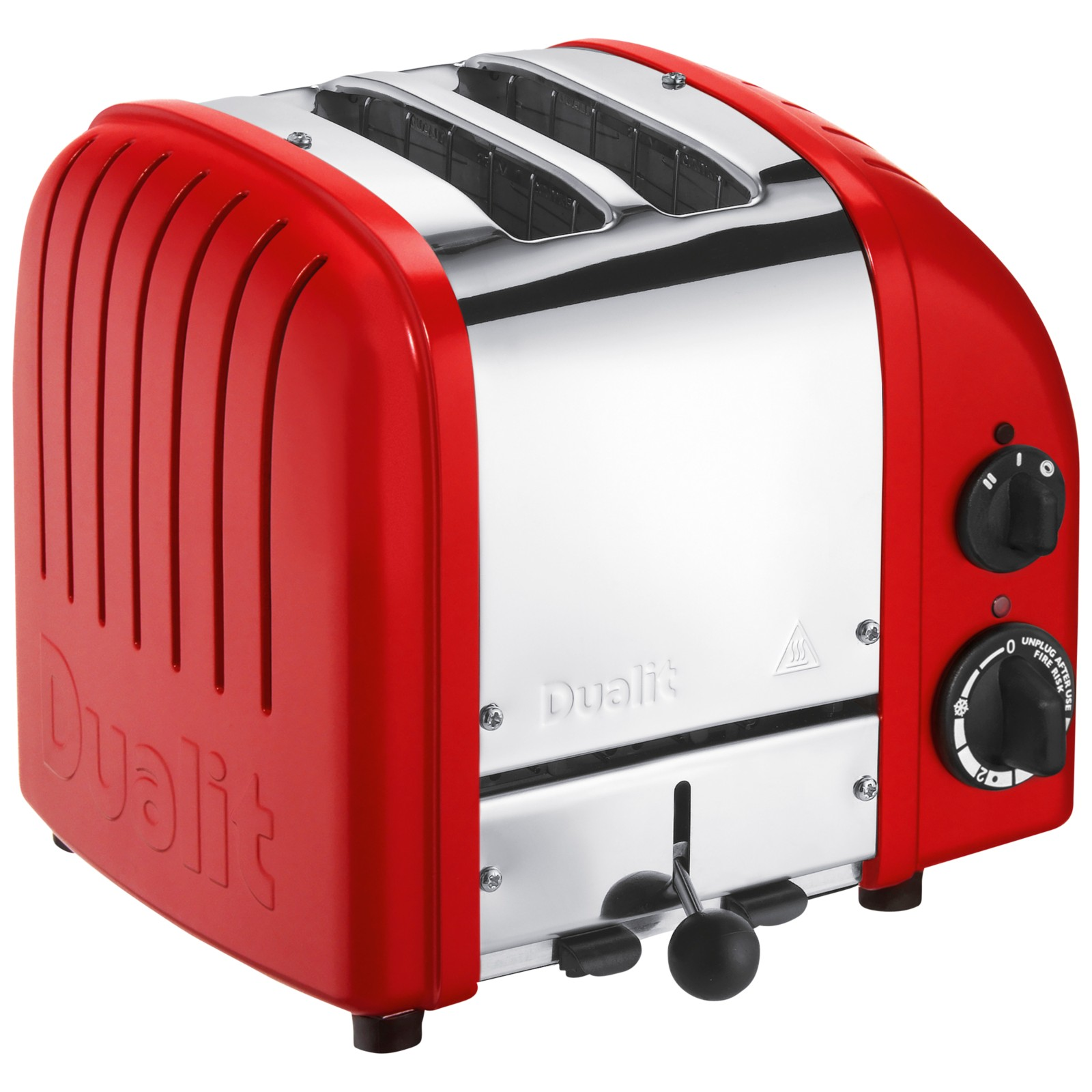 Dualit Made to Order Classic 2-Slice Toaster Stainless Steel/Flame Red Matt