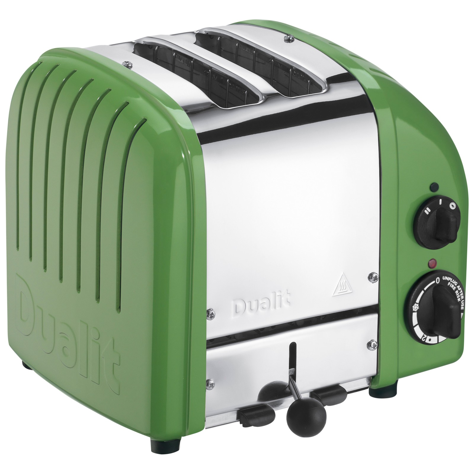 Dualit Made to Order Classic 2-Slice Toaster Stainless Steel/Reseda Green Gloss