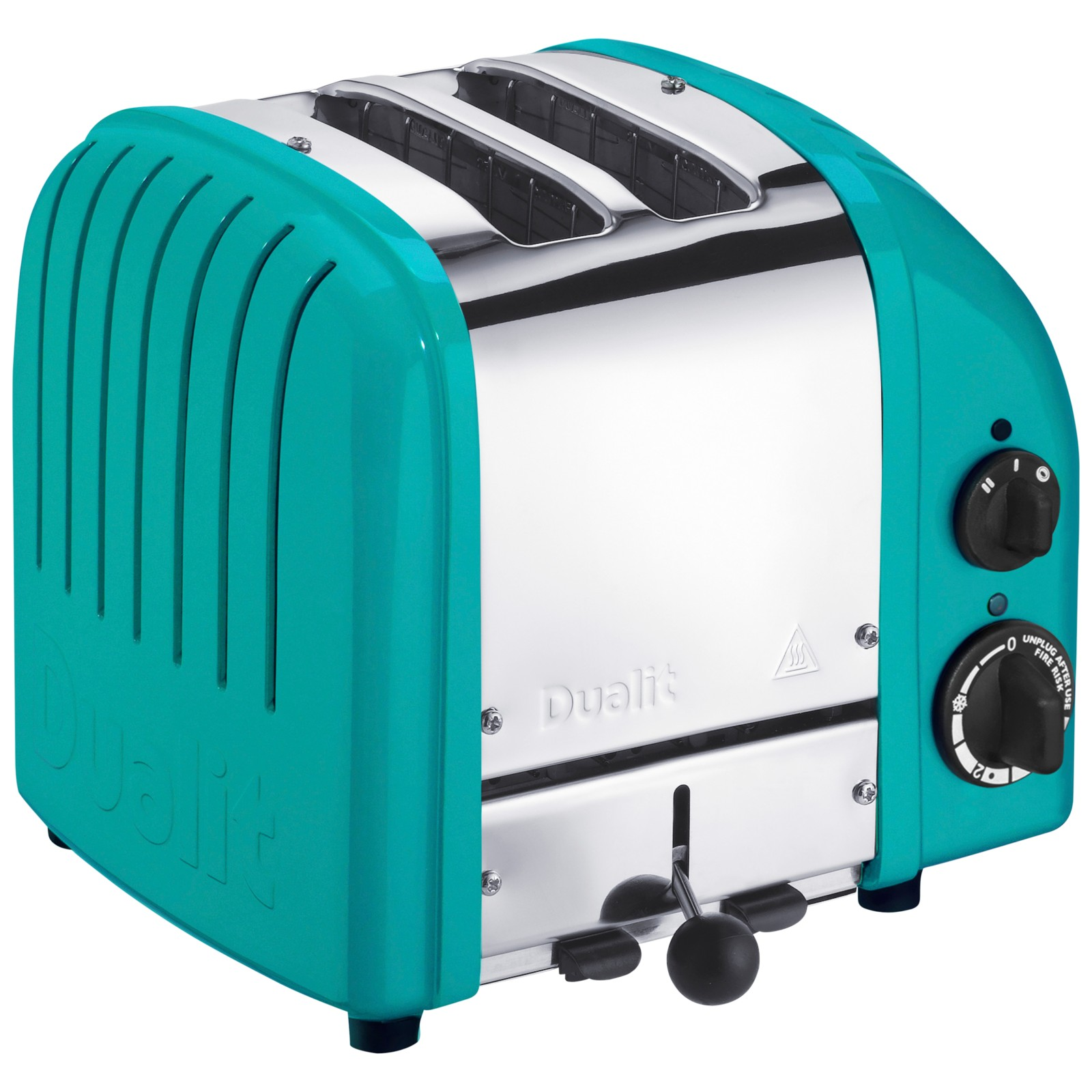 Dualit Made to Order Classic 2-Slice Toaster Stainless Steel/Turquoise Blue Gloss