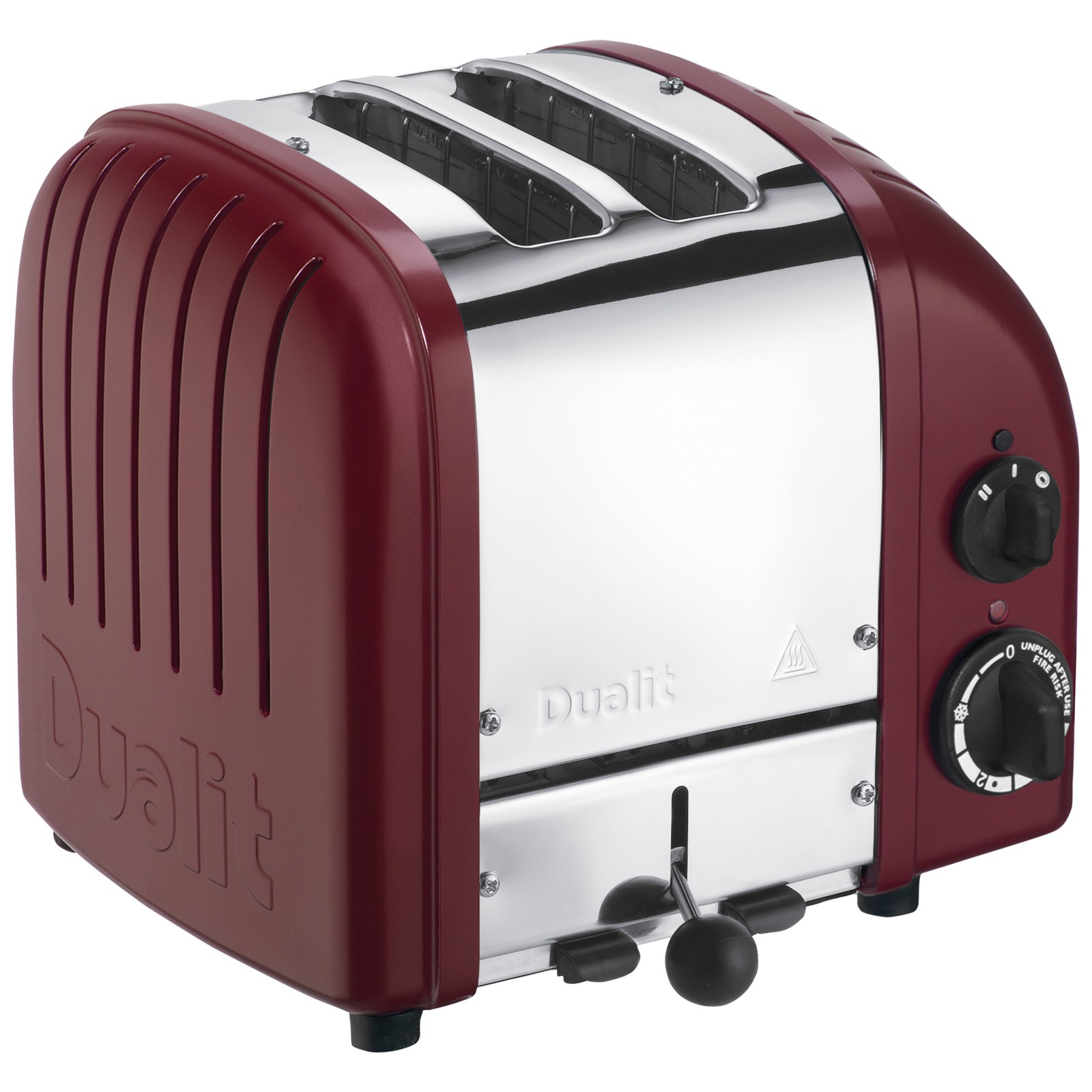 Dualit Made to Order Classic 2-Slice Toaster Stainless Steel/Wine Red Matt
