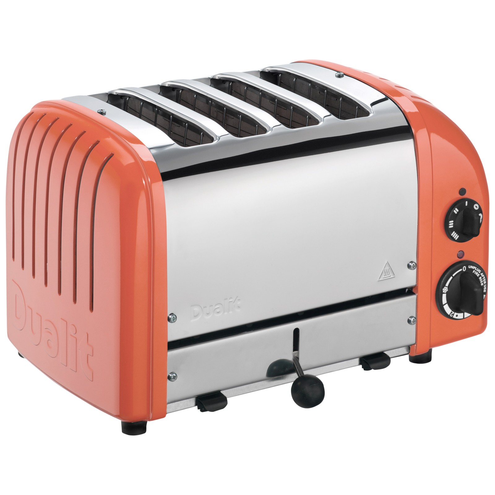 Dualit Made to Order Classic 4-Slice Toaster Stainless Steel/Salmon Pink Gloss