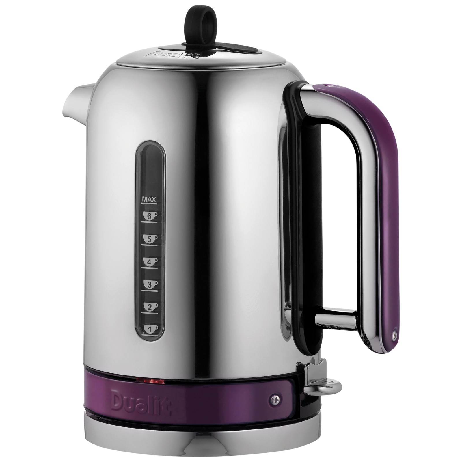 Dualit Made to Order Classic Kettle Stainless Steel/Purple Violet Gloss