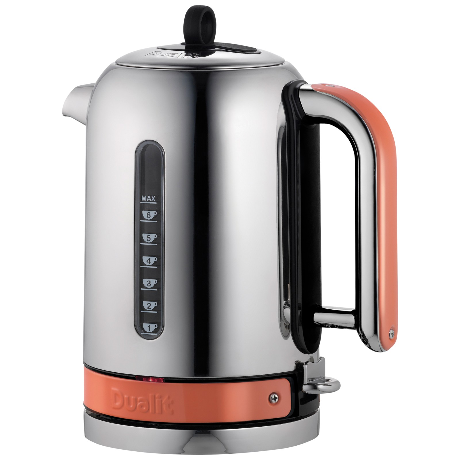 Dualit Made to Order Classic Kettle Stainless Steel/Salmon Pink Gloss