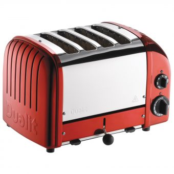 Dualit NewGen 4-Slice Toaster Apple Candy Red