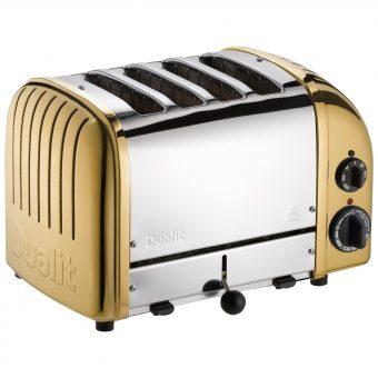 Dualit NewGen 4-Slice Toaster Brass