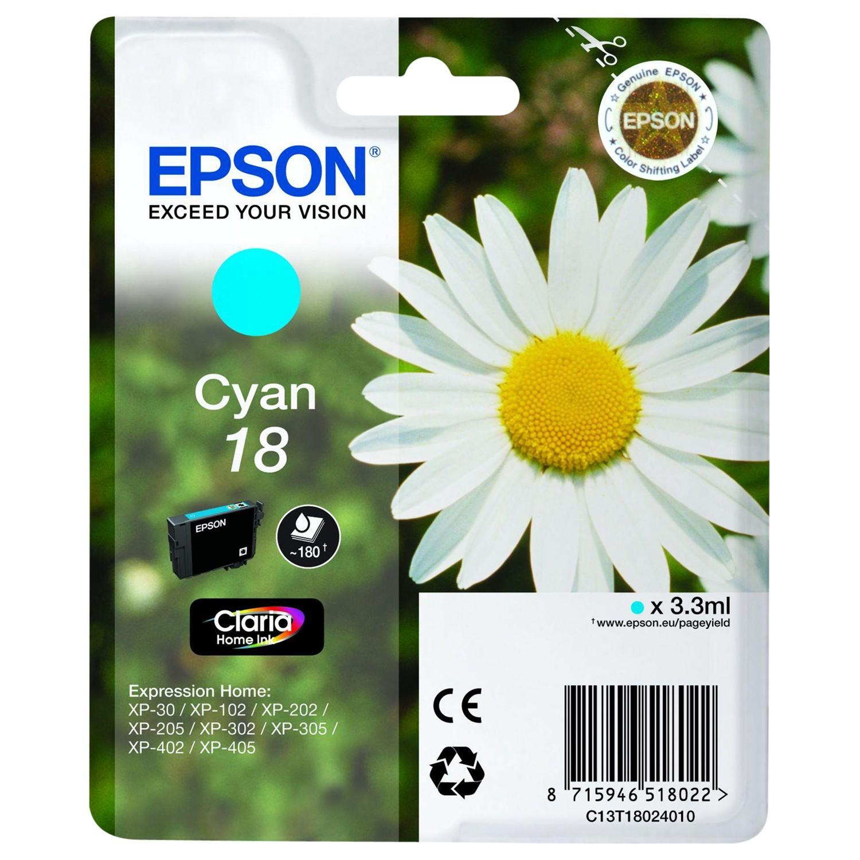 Epson Daisy 18 Colour Ink Cartridge Cyan