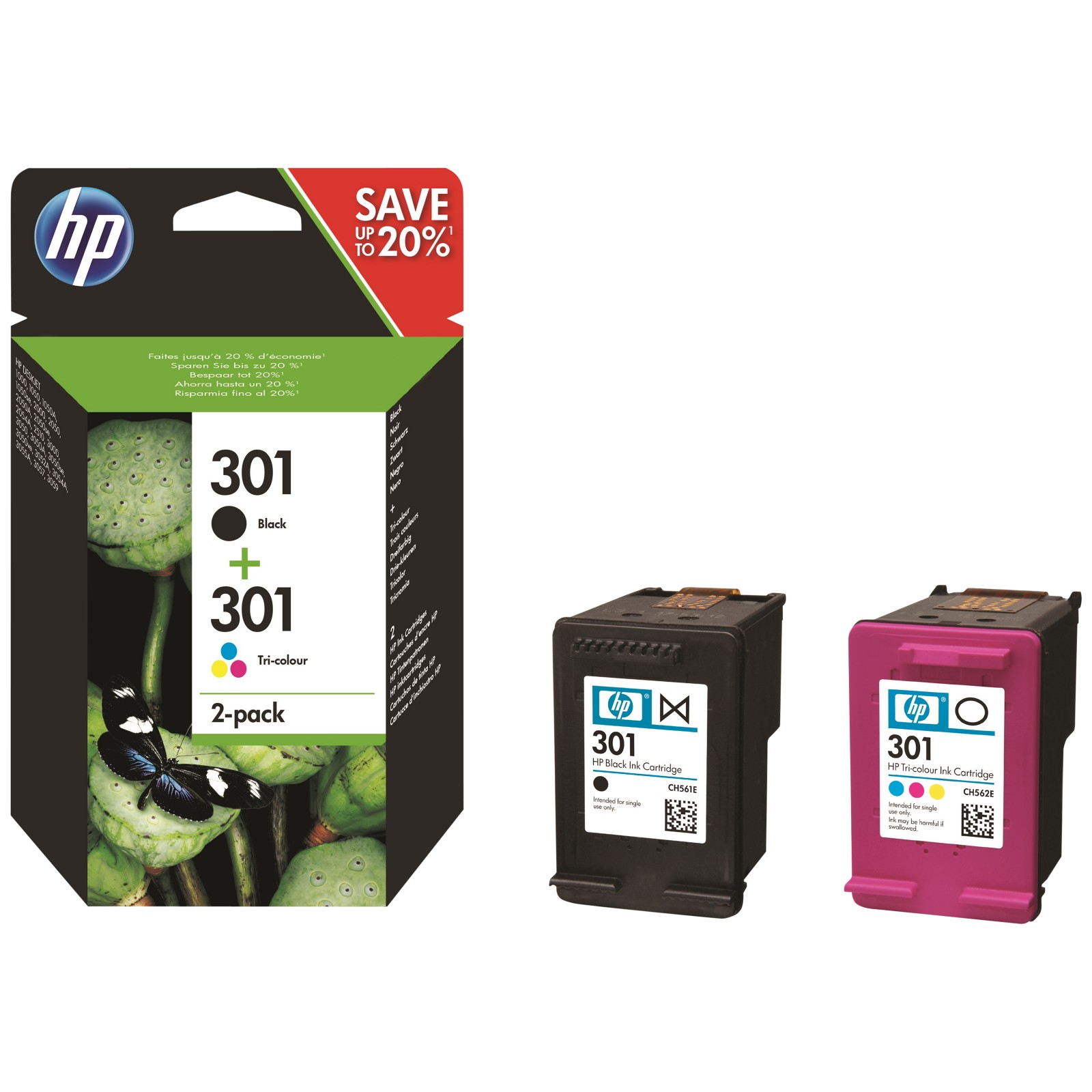 hp 301 black tri colour ink cartridges pack of 2 review best buy review. Black Bedroom Furniture Sets. Home Design Ideas