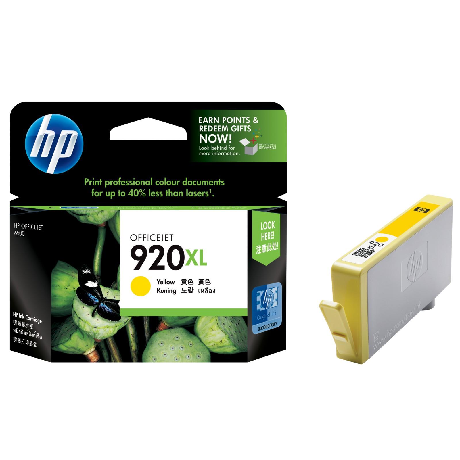 HP Officejet 920XL Colour Ink Cartridge Yellow