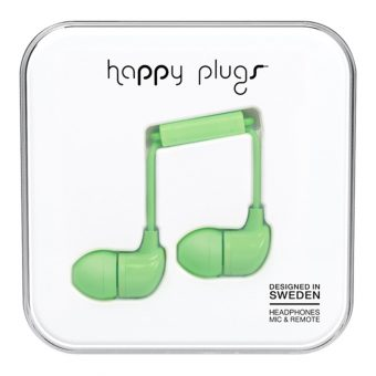 Happy Plugs In-Ear Headphones with Mic/Remote Mint