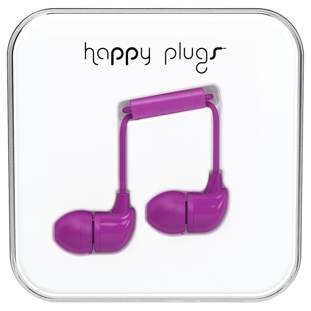 Happy Plugs In-Ear Headphones with Mic/Remote Purple