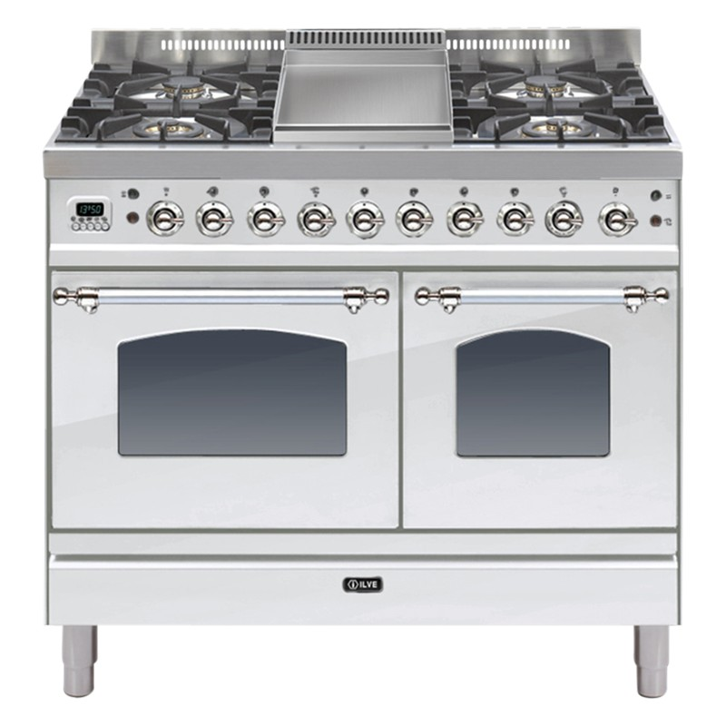 ILVE PDN100FMP Milano Freestanding Dual Fuel Range Cooker Stainless Steel