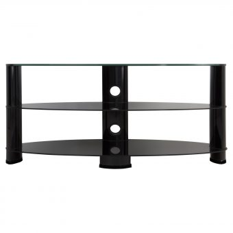 "John Lewis 1200 Oval TV Stand for TVs up to 60"" Black"