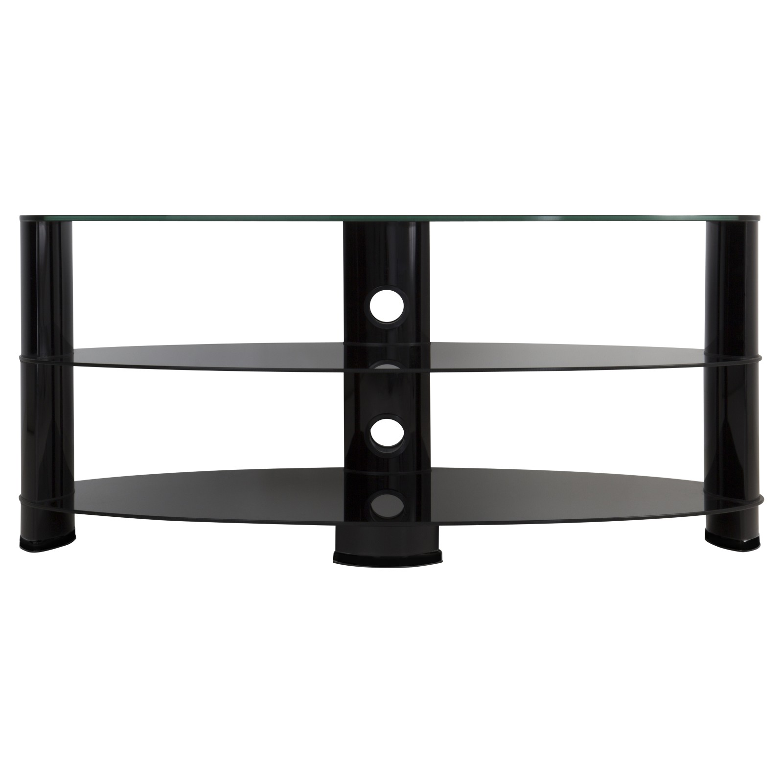 """John Lewis 1200 Oval TV Stand for TVs up to 60"""" Black"""