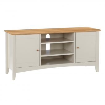 "John Lewis Alba TV Stand for TVs up to 40"" Soft Grey/Oak"